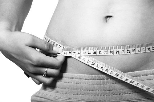 Barriga, mulher, fit, medidas saudáveis