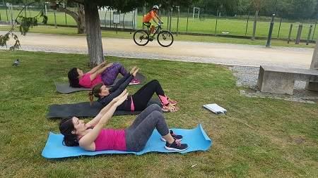 Treino ao ar livre, treino na rua, treino em grupo, coach outdoor