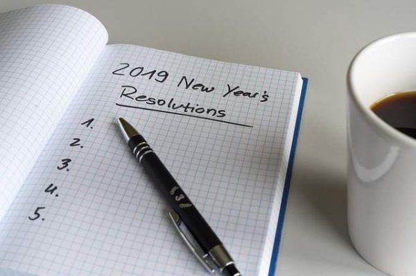 Lista de objectivos, novo ano vida nova, iniciar actividade física